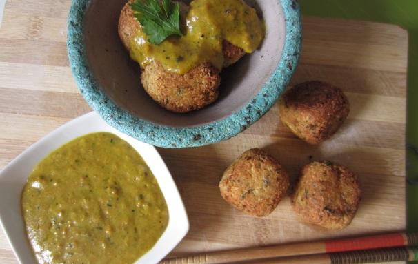 polpette di tofu con salsa al curry_