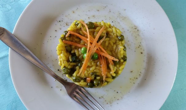 risotto al curry con piselli_