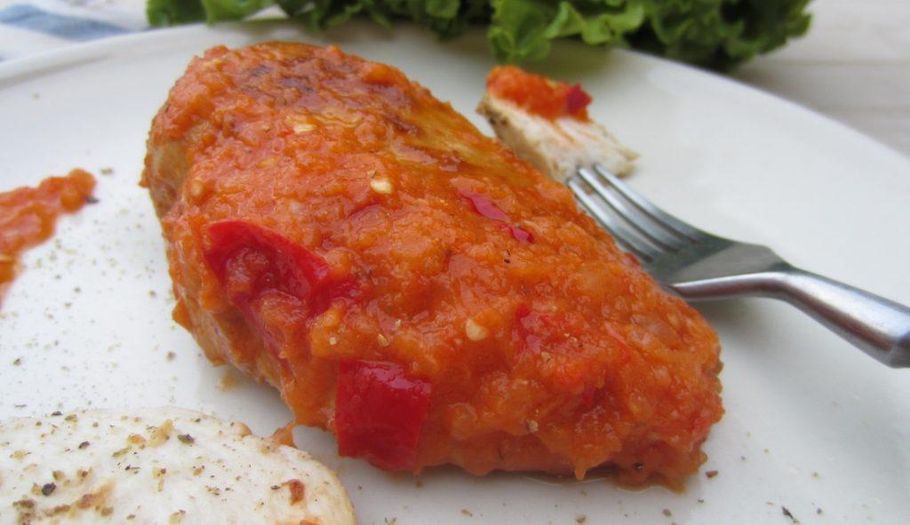 petto di pollo marinato in salsa piccante