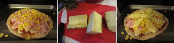 pizza con ananas e prosciutto