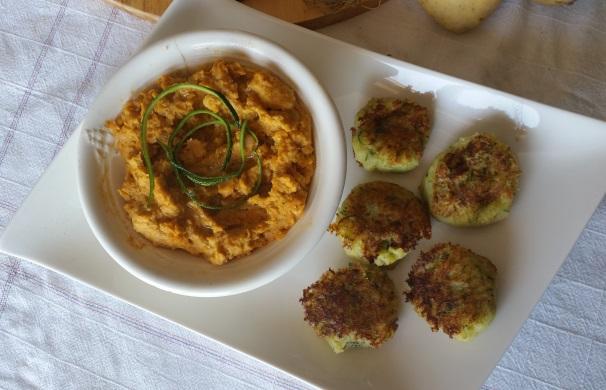 polpettine di verdure con hummus al curry_