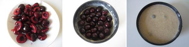 preparazione clafoutis alle ciliegie