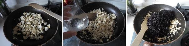 procedimento riso nerone con ricotta salata