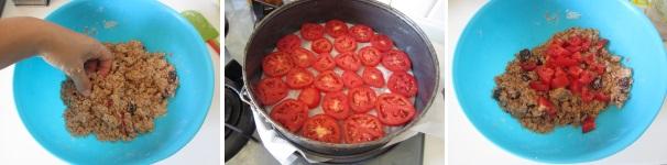 torta di pomodori preparazione