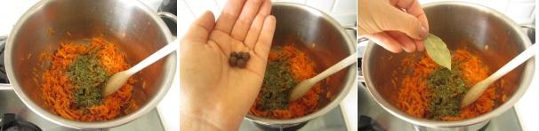 baccalà con carote e pomodoro