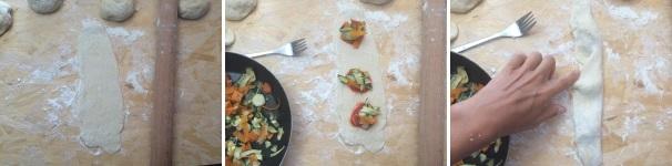 calzoni ripieni di verdure procedimento