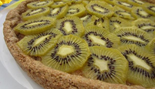 crostata di kiwi vegana