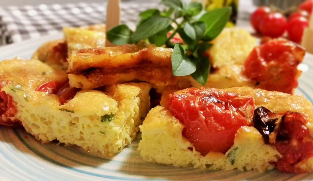 frittata di pomodori al forno