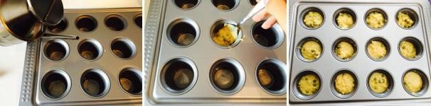 muffin salati riso e piselli procedimento