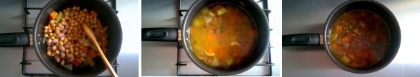 zuppa farro e legumi procedimento