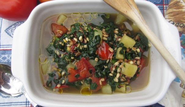 2 Minestrone di farro e verdure semplice