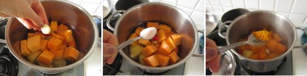 Crema di zucca e gamberetti passo dopo passo