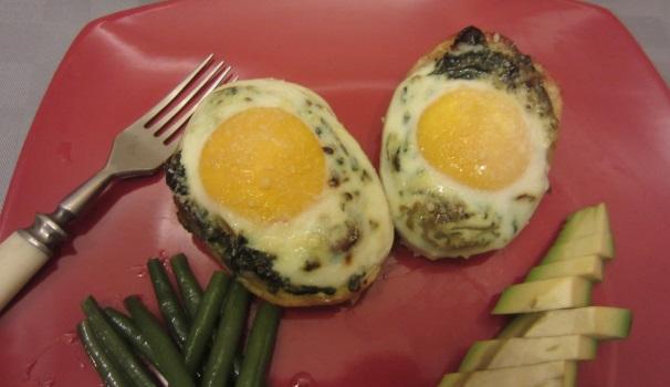 Patate ripiene di vedura e uova saporitissime