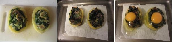 Patate ripiene di verdura e uova in forno
