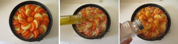 Torta di carote e patate in forno