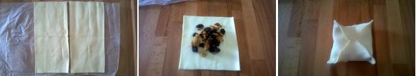 fagottini frutta secca e rum procedimento