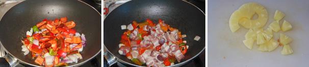 maiale in agrodolce preparazione