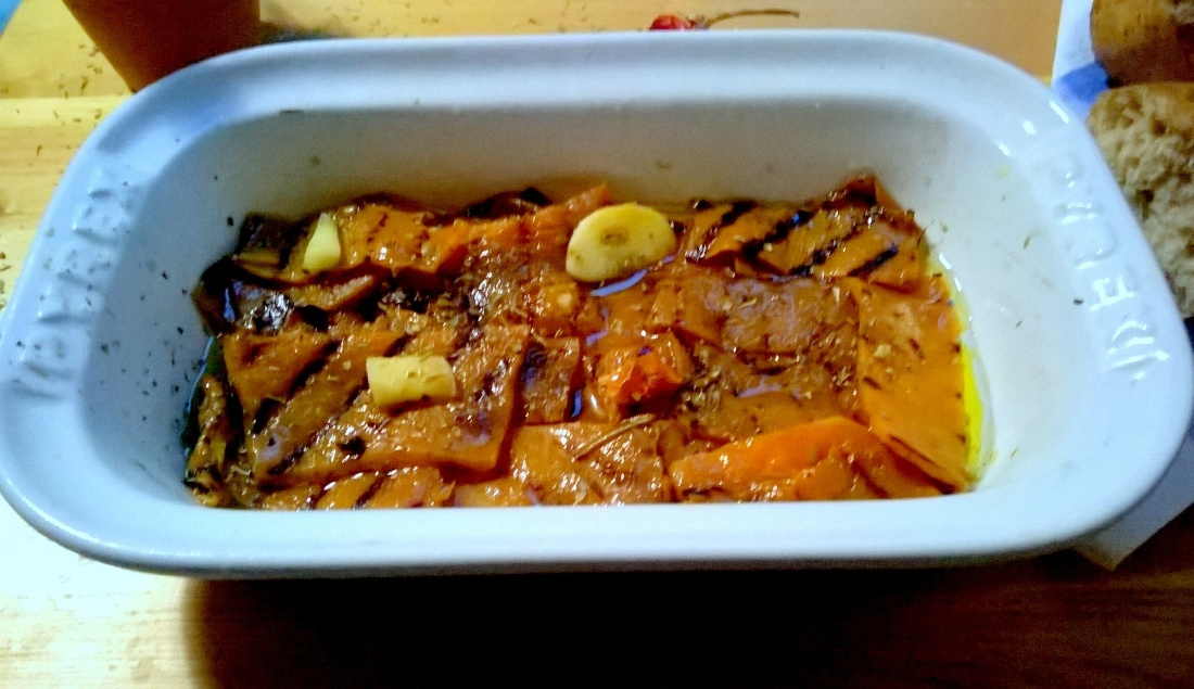 zucca grigliata sott'olio