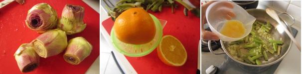 Carciofi all'arancia procedimento