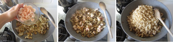 Risotto funghi e gamberetti ricetta facile