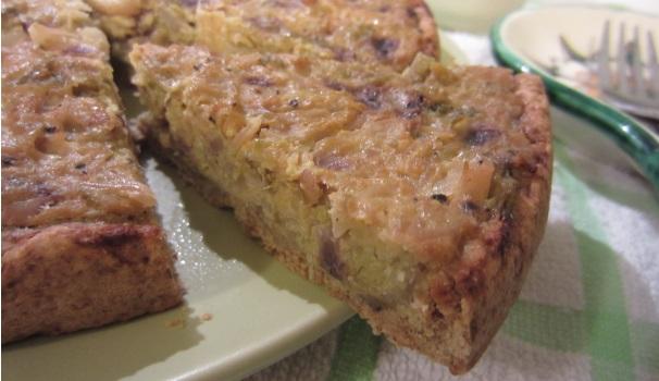 Torta salata di verza e panna acida