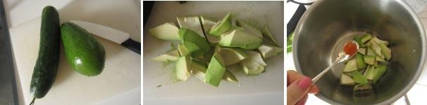 Vellutata di cetrioli ed avocado procedimento