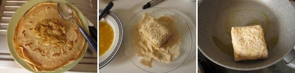 Krokiety con crauti e funghi antipasto