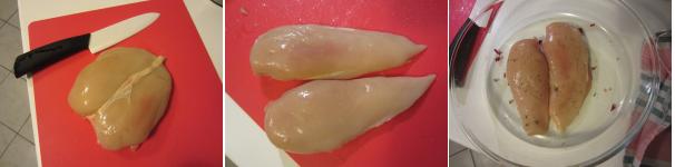 Petto di pollo al forno procedimento