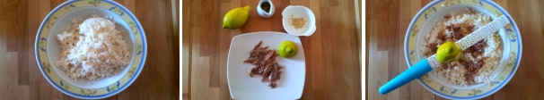 polpette di riso con zenzero e alici ricetta