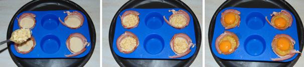 uova in gabbia bacon
