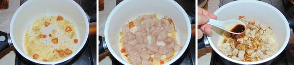 zuppa thai di pollo preparazione
