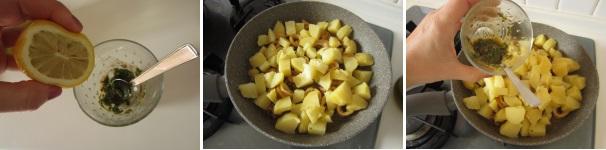 Calamari con patate preparazione