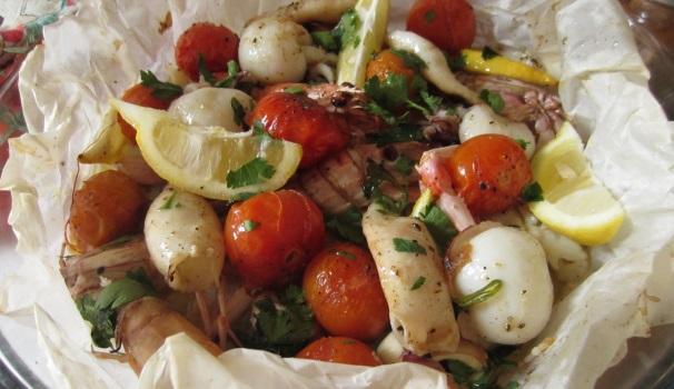 Frutti di mare al cartoccio