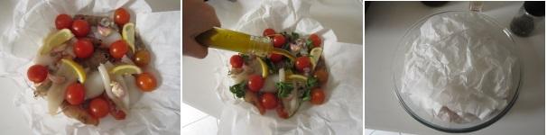 Frutti di mare al cartoccio veloci
