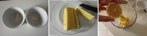 Souffle all'ananas e cioccolato bianco procedimento