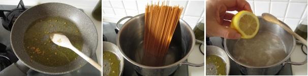 Spaghetti al limone preparazione