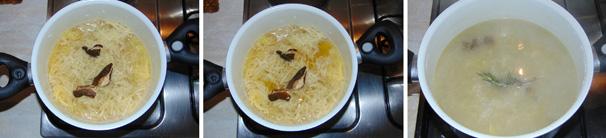 zuppa di patate e funghi procedimento