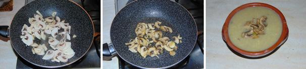 zuppa di patate e funghi preparazione