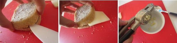 Cotoletta di pane integrale procedimento