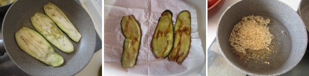 Maki di melanzane e riso procedimento