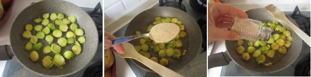 Pasta integrale con cavoletti di Bruxells saporita
