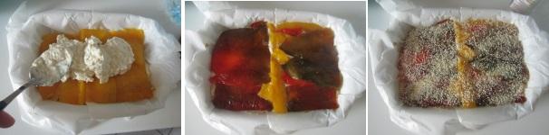 Lasagne di peperoni e feta ottimi
