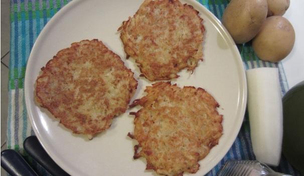Rosti di patate e daikon