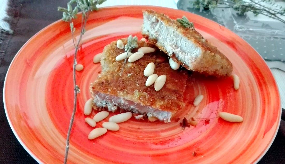 tonno pinnagialla in crosta di pinoli