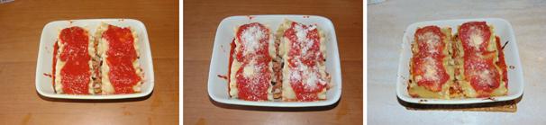 linvoltini di lasagne ricce e salsiccia