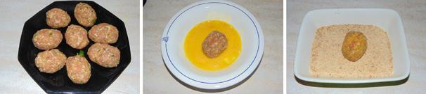 polpette con uova di quaglia finger food