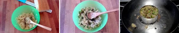 tortino di quinoa procedimento