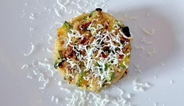 tortino di quinoa zucchine e parmigiano