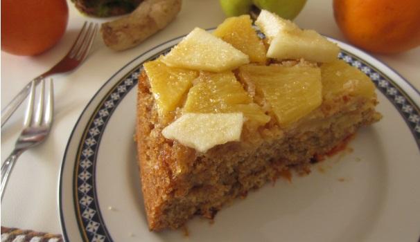 Plumcake integrale di frutta e zenzero veloce