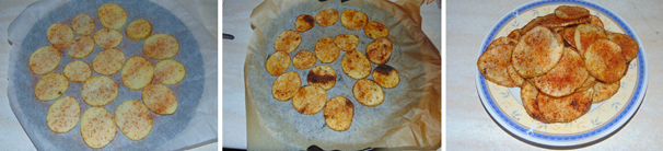 patatine fatte in casa alla paprika